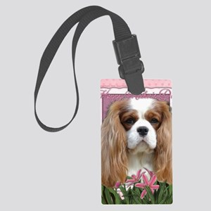 Mothers_Day_Pink_Tulips_Cavalier Large Luggage Tag