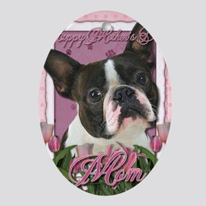Mothers_Day_Pink_Tulips_Boston_Terri Oval Ornament