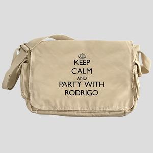 Keep Calm and Party with Rodrigo Messenger Bag