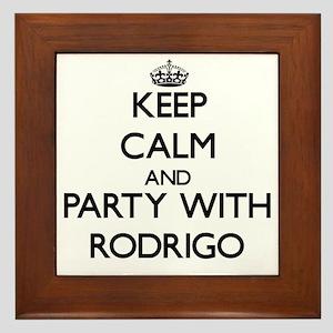 Keep Calm and Party with Rodrigo Framed Tile