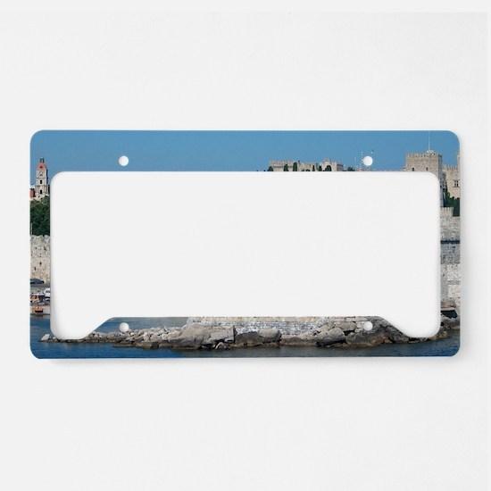 Cool Greek islands License Plate Holder