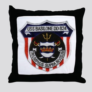 basilone dd patch Throw Pillow