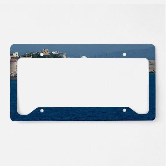 Funny Greek islands License Plate Holder