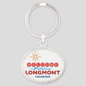 LONGMONT DARK Oval Keychain