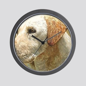 yellow lab_lg print Wall Clock