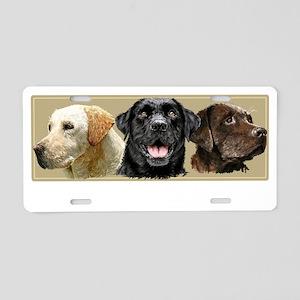 three amigos_dark Aluminum License Plate