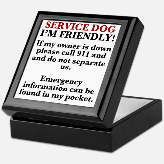 Dog T-shirt: Call 911/Check Pocket Keepsake Box