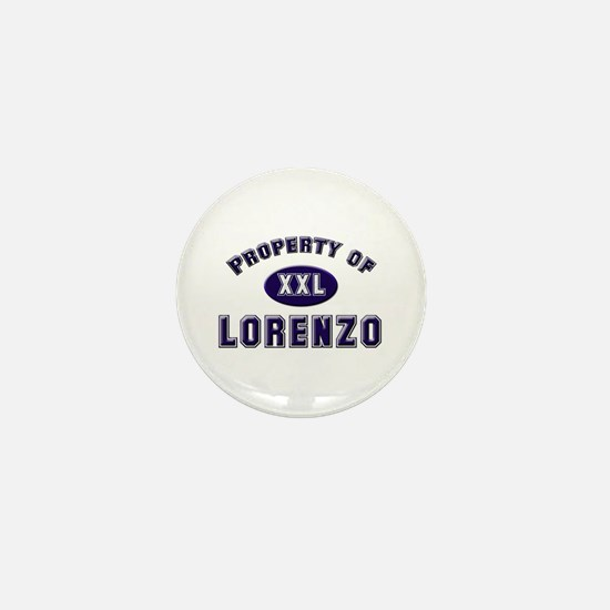 Property of lorenzo Mini Button