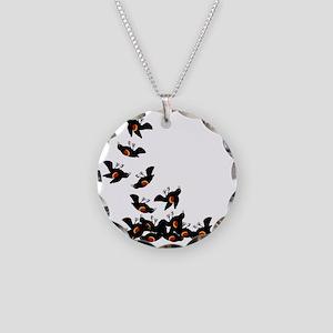 falling-blackbirds Necklace Circle Charm