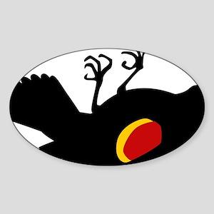 fallen-blackbird Sticker (Oval)