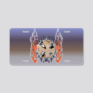 Smoked Iron Cross Aluminum License Plate