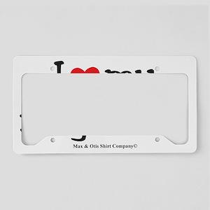 i-heart-my-neighbors License Plate Holder
