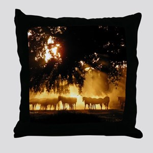 Field Horses signed. Oct. Winner Throw Pillow