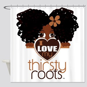 Curly Natural Afro Shower Curtain