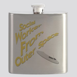 Social Worker From Outer Space Flask