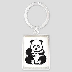 Ukulele Panda Solo Portrait Keychain