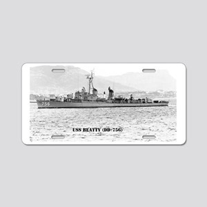 beatty large framed print Aluminum License Plate