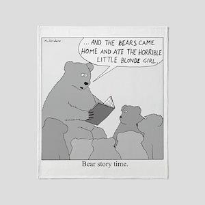 Bear Story Time Throw Blanket