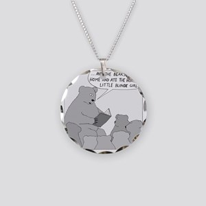 Bear Story Time - no text Necklace Circle Charm