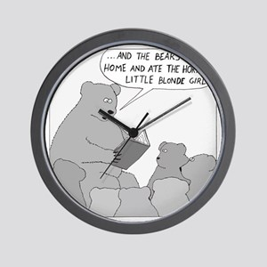 Bear Story Time - no text Wall Clock