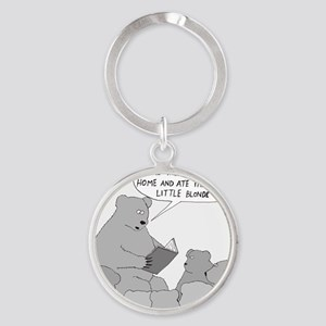 Bear Story Time - no text Round Keychain
