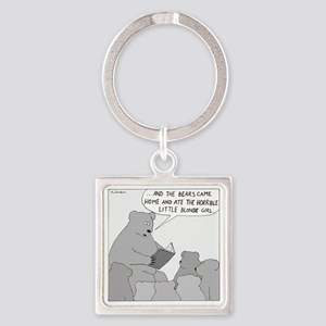 Bear Story Time - no text Square Keychain