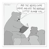 Bear Square Car Magnets