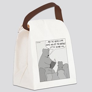Bear Story Time - no text Canvas Lunch Bag