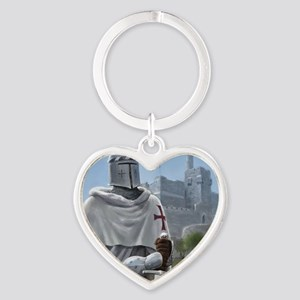 templar citadel 1 squ Heart Keychain