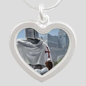 templar citadel 1 squ Silver Heart Necklace