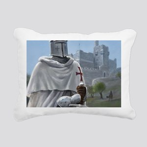 templar citadel 1 squ Rectangular Canvas Pillow