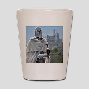 templar citadel 1 squ Shot Glass