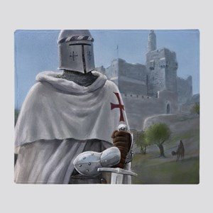 templar citadel 1 squ Throw Blanket