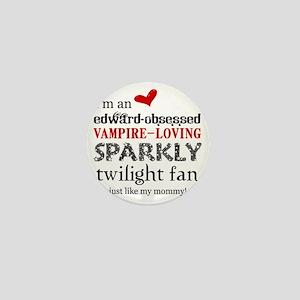 Sparkly Fan 2 Mini Button