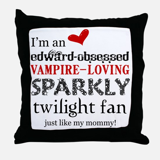 Sparkly Fan 2 Throw Pillow