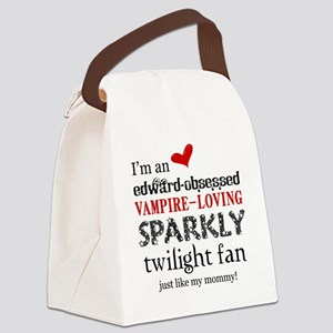 Sparkly Fan 2 Canvas Lunch Bag