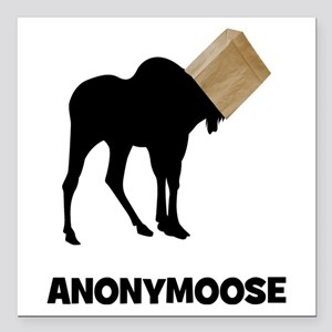 "Anonymoose Square Car Magnet 3"" x 3"""