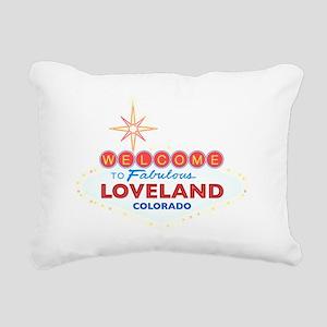 LOVELAND DARK Rectangular Canvas Pillow