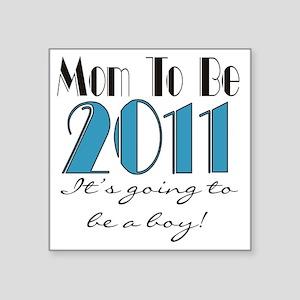 "2011mombeboy Square Sticker 3"" x 3"""