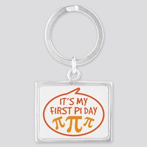 Babys First Pi Day Landscape Keychain
