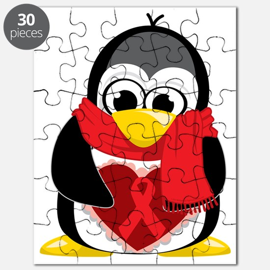Red-Ribbon-Penguin-Scarf Puzzle