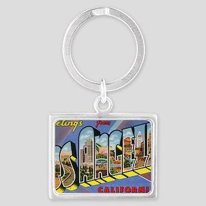 los angeles postcard Landscape Keychain