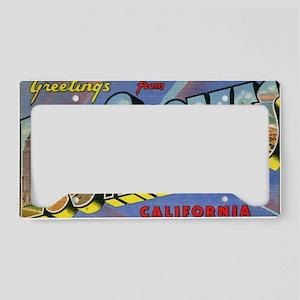 los angeles postcard License Plate Holder