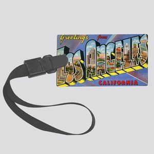 los angeles postcard Large Luggage Tag