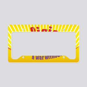 Religion-You Cant Start a War License Plate Holder