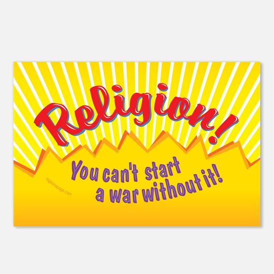 Religion-You Cant Start a Postcards (Package of 8)