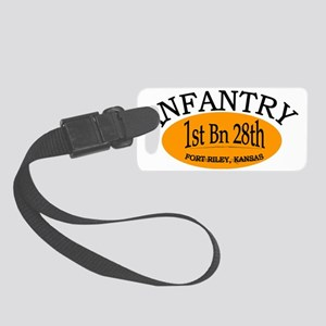 1st Bn 28th Inf cap2 Small Luggage Tag