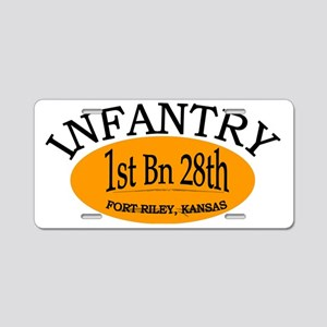 1st Bn 28th Inf cap2 Aluminum License Plate