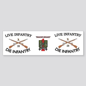1st Bn 28th Inf mug4 Sticker (Bumper)