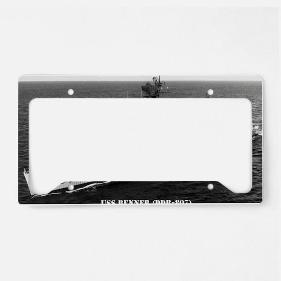 benner ddr large framed print License Plate Holder